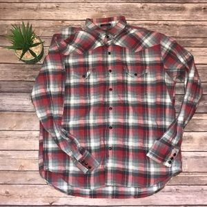 Lucky Brand Black Label Flannel Size L